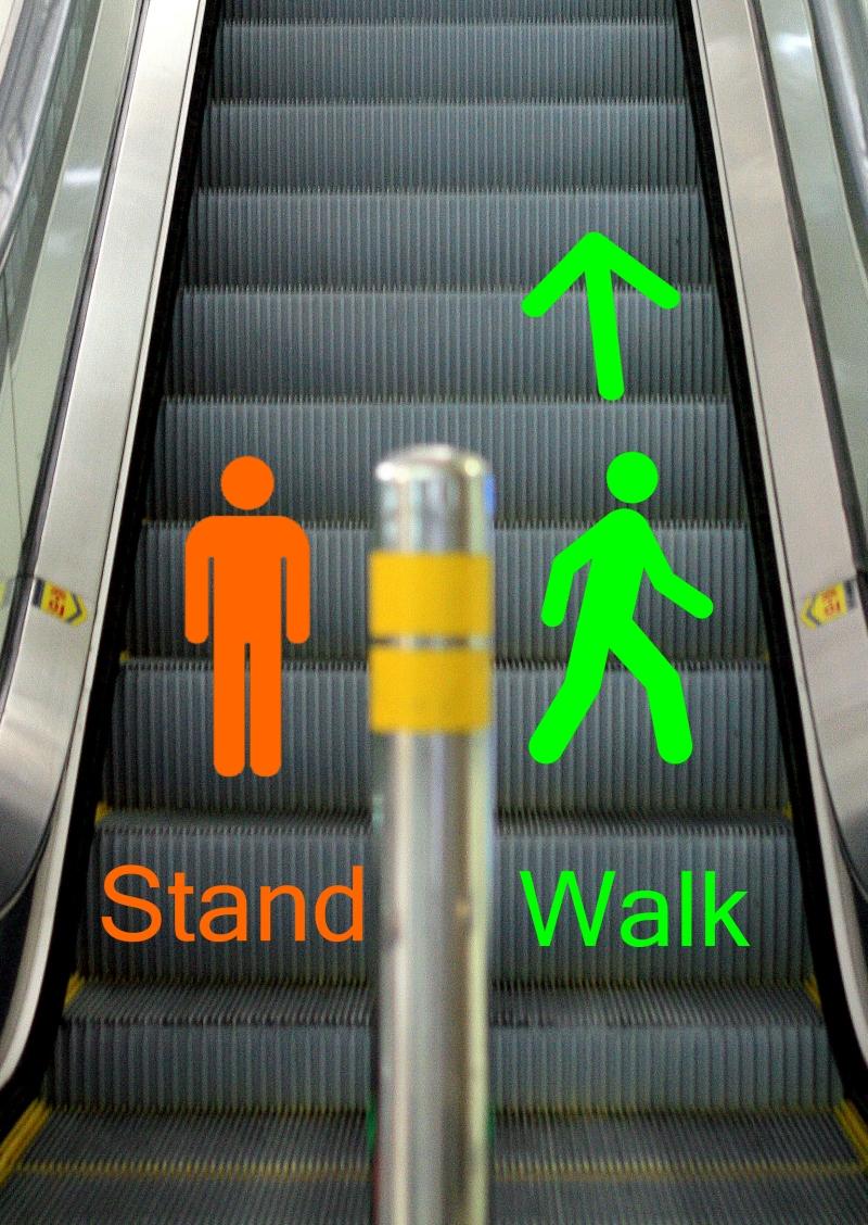 Modales en escaleras eléctricas en Australia